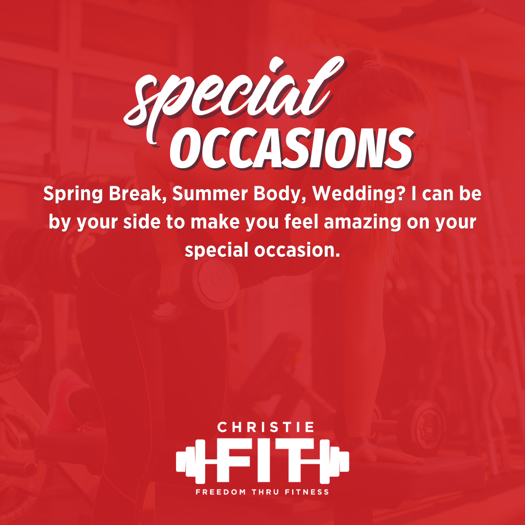 Special Occasion Personal Training